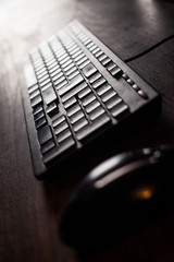 Computer keyboard detail