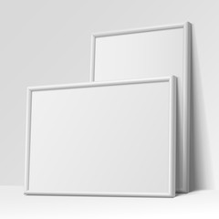 Realistic White horizontal and vertical frame