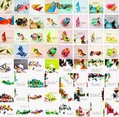 Mega set of various style geometrical templates