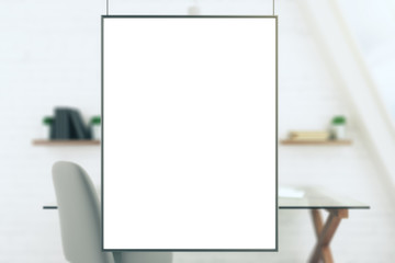 Blank picture frame in a studio, mock up