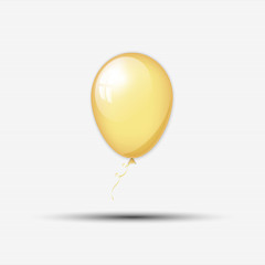 Abstract golden balloon