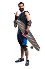 Skater coming gesture