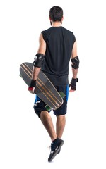 Skater with safety protections