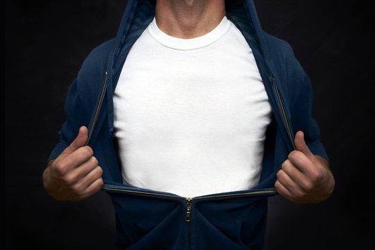 Hero showing white t-shirt