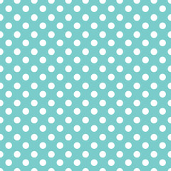 Polka dots seamless pattern background.