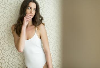 Girl posing in underwear