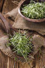 Fresh Garden Cress (selective focus)