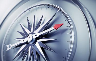 Silbergrauer Kompass