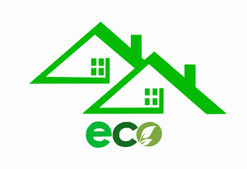Концепт эко дом, логотип, иконка, значок
