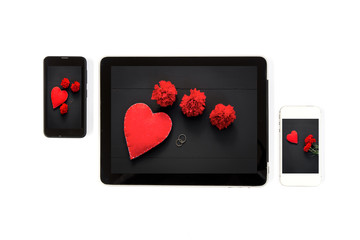 Tablet concept Valentine's Day pictures: Signs of Valentine's Da