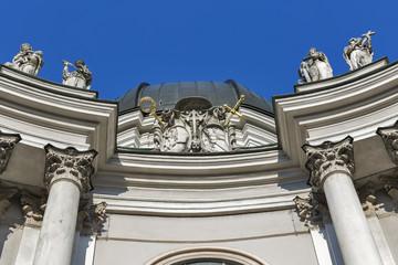 Holy Trinity Church facade in Salzburg, Austria