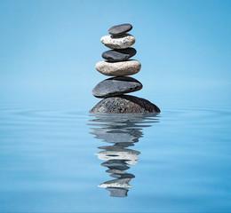 Obraz Zen balanced stones stack - fototapety do salonu