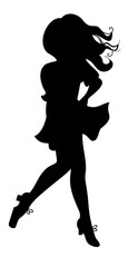 Irish dancing girl silhouette