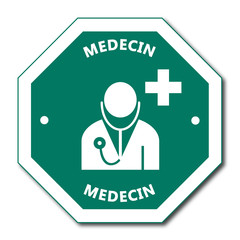 Logo médecin. Médecine.