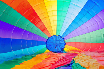 Colored parachute background