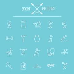 Sport icon set.