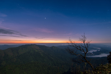 beautiful sunrise on the mountain at sanknokwua
