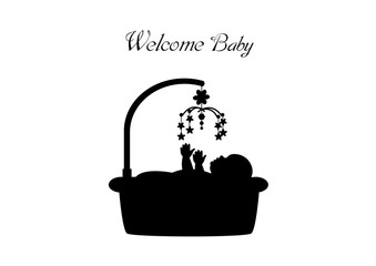baby vector icons on white backgrounds