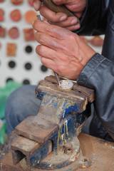 Craftsman making personalized