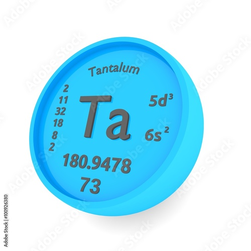Tantalum Chemical Element Sign In Periodic Table Stock Photo And