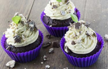 Cap Cake mit Vanille-Topping
