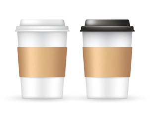 Coffee Cup Template : Vector Illustration