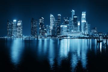 Fototapete - Singapore skyline
