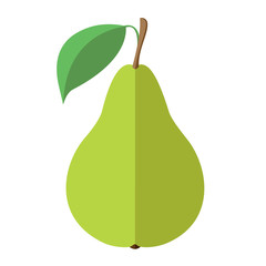 Pear. Flat design. Vector illustration.