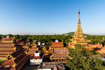 The royal palace in Mandalay, Myanmar Nov 2014