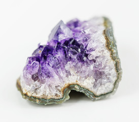 Fragment of amethyst geode