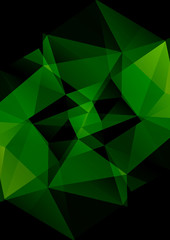 polygonal green pattern