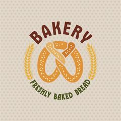 Bakery vector retro logo.