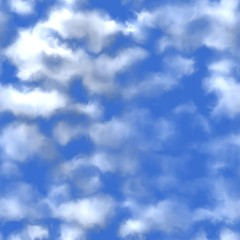 Clouds background generated. Seamless pattern.
