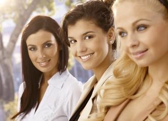 Closeup portrait of attractive females