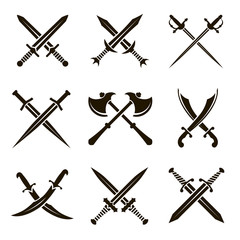9 icons swords swords swords axes