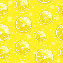 Seamless pattern with fresh fruit citrus