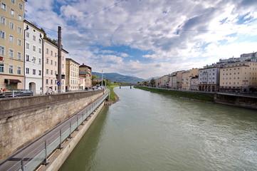 Salzach river in Salzburg, Austria