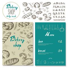 Bakery corporate identity. Bakery shop. set