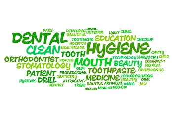Dental hygiene word cloud