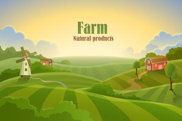 Farm flat landscape