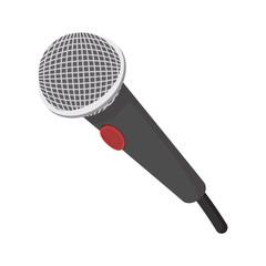 Microphone cartoon icon