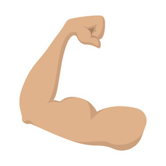Strong biceps cartoon icon