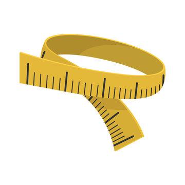 Measuring tape cartoon icon