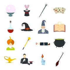 Magic flat icons set