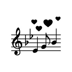 Wedding music simple icon