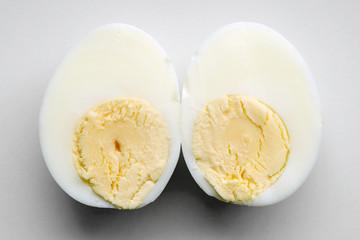 two egg halves