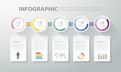 Design clean template infographic. can be used for workflow, layout, diagram, process
