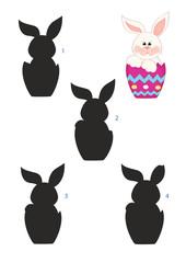 gioco ombre, coniglietto di Pasqua