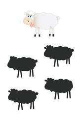 gioco ombre, pecora