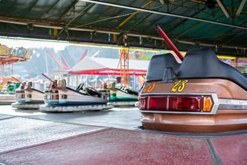 Electric car in the amusement park